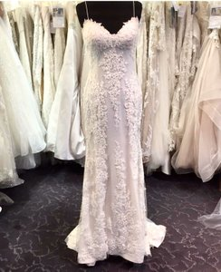Sottero and Midgley Iv/Nude Lace Is Over Dotted Swiss Mattea Vintage Wedding Dress Size 6 (S)