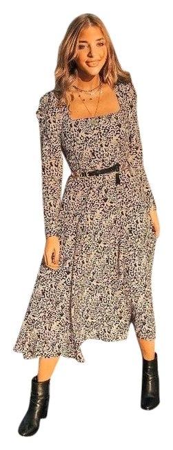 Item - Brown XS Animal Print Leopard Midi Mid-length Casual Maxi Dress Size 2 (XS)
