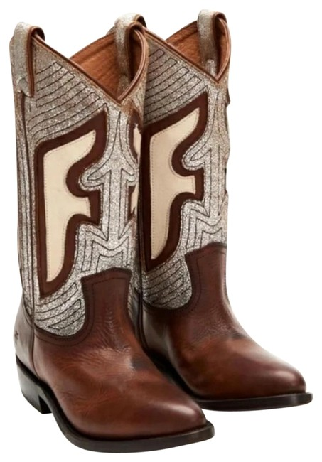 Item - Brown and Ivory Billy Boots/Booties Size US 7 Regular (M, B)