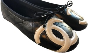 Chanel Cambon Ballet Black and White Flats