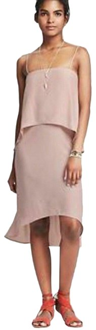 Item - Pink Blush Tiered Spaghetti Mid-length Night Out Dress Size 4 (S)