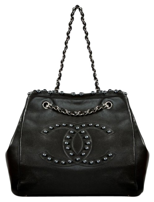 Item - Timeless Supermodel Bag XL Obsession Pearl Rare Black Lambskin Leather Tote