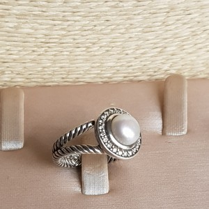 David Yurman David Yurman Cerise Petite Pearl Diamond Ring