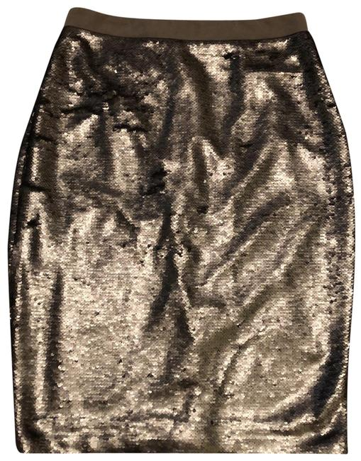 Item - Silver Sequin Pencil Skirt Size 10 (M, 31)