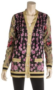Gucci Patchwork Shiny Jacquard Reversible Cardigan 495639