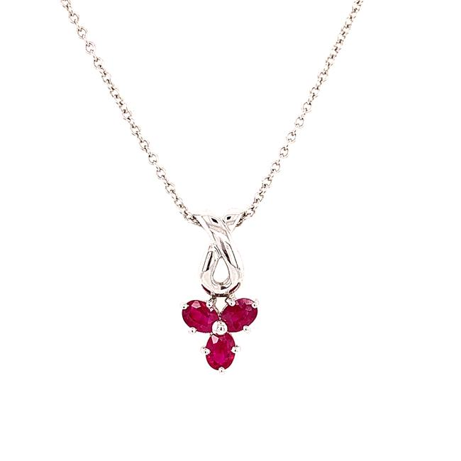 Item - Red 18/14k 3-rubies Pendant Necklace