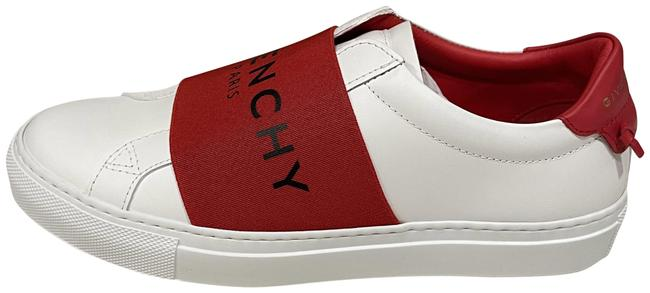 Item - White/Red Urban Street Logo Signature Leather Low Top Flat Sneakers Size EU 36 (Approx. US 6) Regular (M, B)