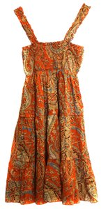Mossimo short dress Orange Paisley Fun Light on Tradesy