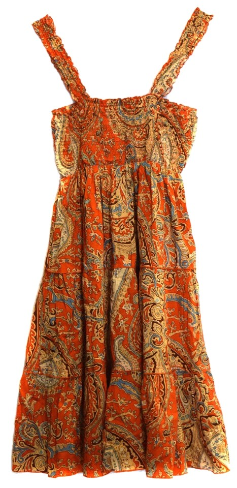 138317879a0 Mossimo Supply Co. short dress Orange Paisley Sundress Fun Light Cute  Adorable Flirty Smocked on ...