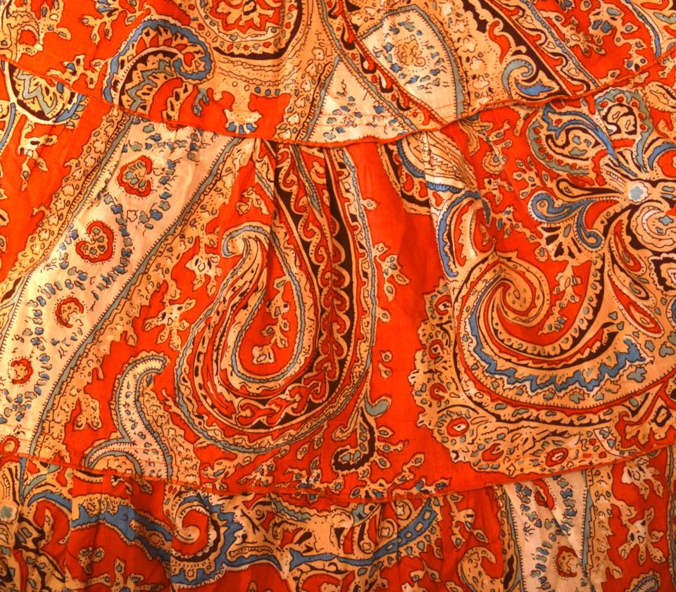 7cffcd8dd9c Mossimo Supply Co. short dress Orange Paisley Sundress Fun Light Cute  Adorable Flirty Smocked on. 12