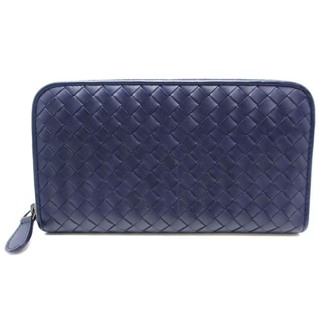 Bottega Veneta Purple Long Intrecciato Runwood Fastener Ladies Leather Dh44845 Wallet Bottega Veneta Purple Long Intrecciato Runwood Fastener Ladies Leather Dh44845 Wallet Image 1