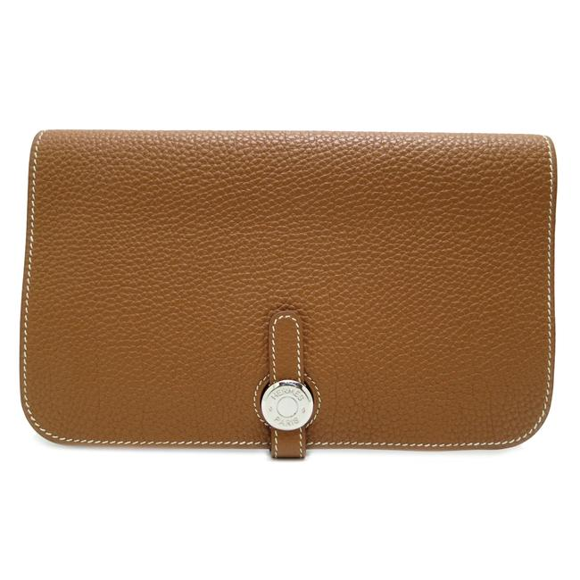 Item - Gold Long Dogon Gm □ J Engraved Ladies Togo X Silver Hardware Dh51864 Made In 2006 Wallet