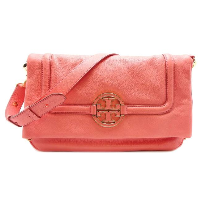 Item - Ladies Dh40971 Peach / Salmon Pink Leather Shoulder Bag