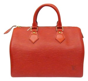 Louis Vuitton Satchel in Red color / White