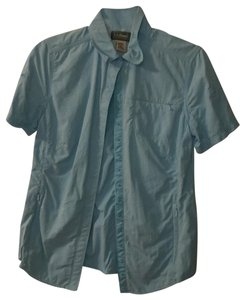 L.L.Bean Button Down Shirt Blue