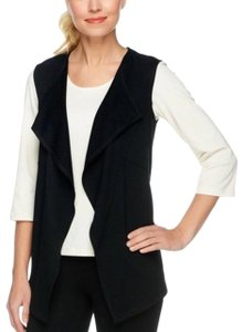 LOGO Lounge BY Lori Goldstein LOGO Lounge by Lori Goldstein Cascade Vest with Coverstitched Pockets