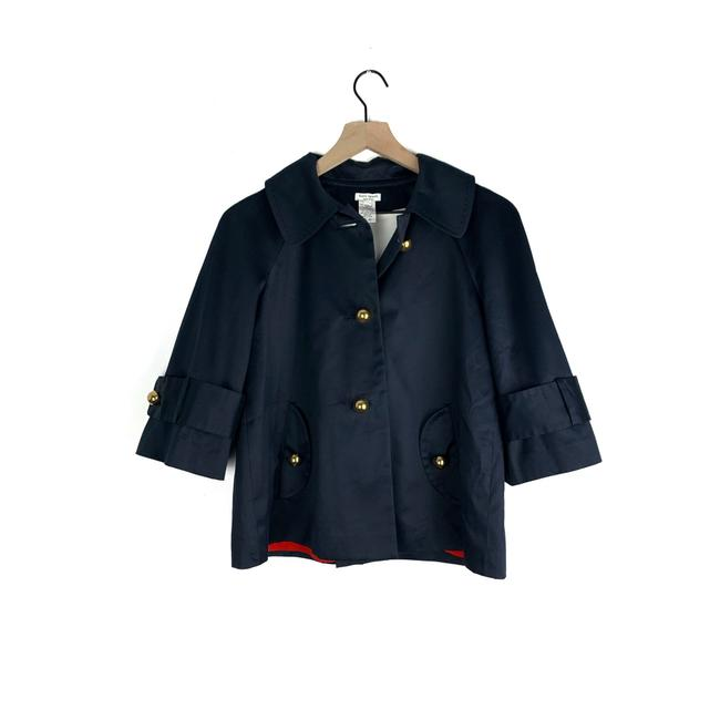 Item - Blue Navy Gold Button Coat Size 6 (S)
