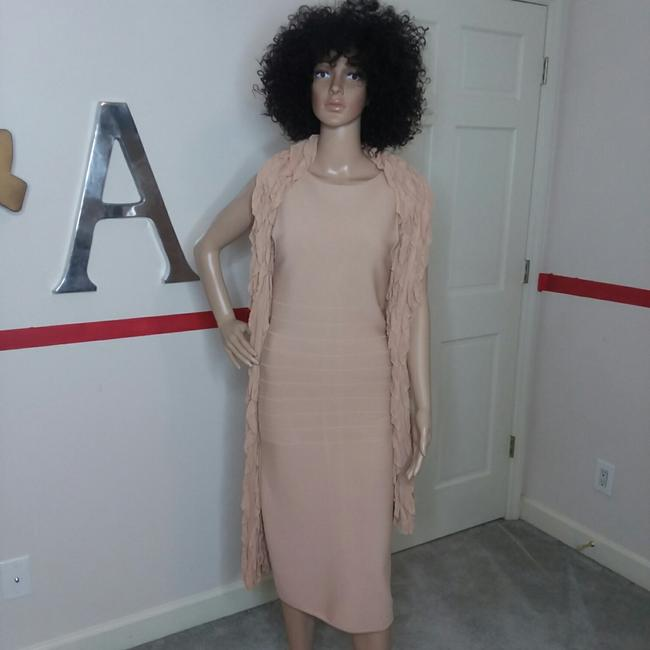 Item - Nude/ Bieged Colored Rin 80734 Mid-length Night Out Dress Size 4 (S)