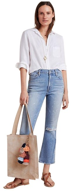 Citizens of Humanity Blue Medium Wash Demy Ultra High Rise Flare Leg Jeans Size 12 (L, 32, 33) Citizens of Humanity Blue Medium Wash Demy Ultra High Rise Flare Leg Jeans Size 12 (L, 32, 33) Image 1