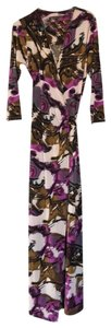 purple brown Maxi Dress by Julian Chang