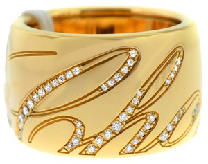 Chopard Chopard Chopardissimo Rose Gold & Diamond Wide Band Ring 826582-5002