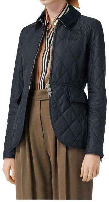Item - Navy Equestrian Quilted Jacket Size Petite 4 (S)