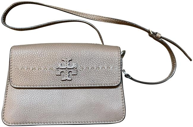 Tory Burch Silver Maple Leather Cross Body Bag Tory Burch Silver Maple Leather Cross Body Bag Image 1