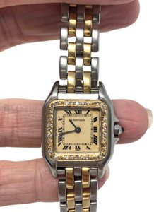Cartier Cartier Panthere 22mm 18K Gold/SS Quartz Watch - Custom added Diamonds