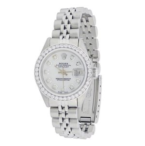 Rolex Rolex Silver Vintage Datejust Lady Stainless Steel with Diamonds Watch