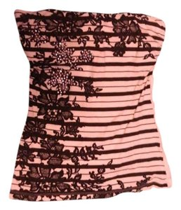 Wet Seal Sleeveless Striped Studded Top White and black