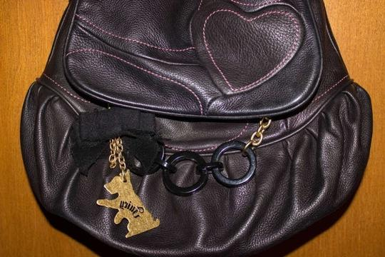 Juicy Couture Soft Leather Satchel in Black