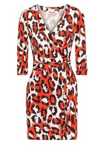 Diane von Furstenberg short dress Orange/red on Tradesy