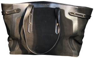 Aspinal of London Suede Work Leather Classic Tote in Black