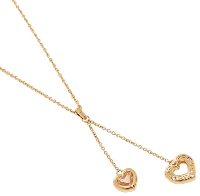 Item - Rosegold Open Circle Heart Lariat Necklace