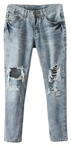 Unknown Capri/Cropped Denim-Light Wash
