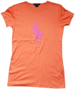 ralph lauren T Shirt orange/pink