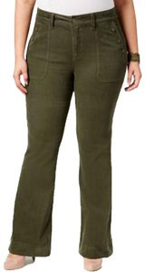 Melissa McCarthy Seven7 Plus Size 0x 1x Jeans Flare Pants Green