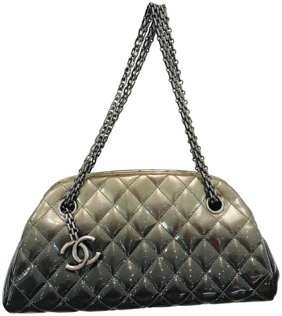 Item - Mademoiselle Ombre Just Degrade Grey Patent Leather Tote