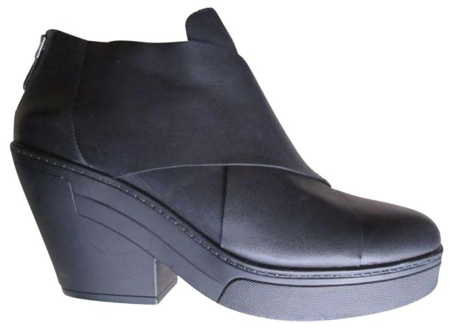 Item - Black Leather Ankle Boots/Booties Size US 8.5 Regular (M, B)