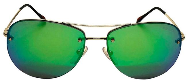 Item - Silver / Green Mirror Free 3 Day Shipping - Sps 50r 1bc-1m0 - New Aviator Sunglasses