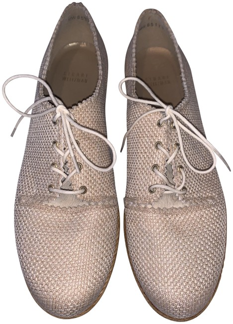 Item - Natural Burlap Oxford Wedges Size US 9 Regular (M, B)
