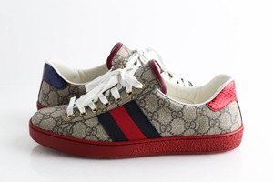 Gucci Beige Ace Gg Supreme Sneakers Shoes
