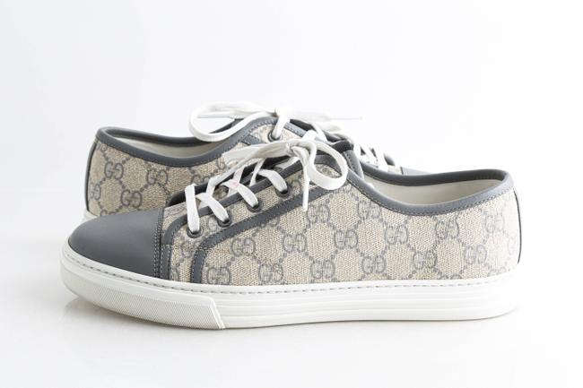 Gucci Grey Gg Supreme Low Top Trainers