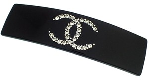 Chanel Jeweled Barrette Clip Strauss CC Logo Resin Star Sparkling Jewel 08P