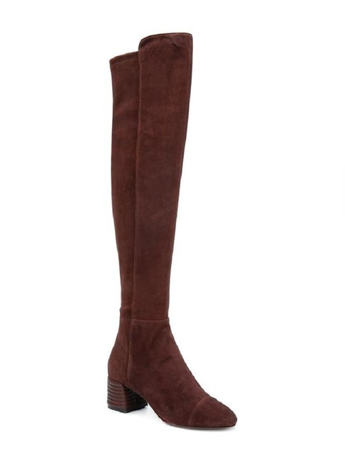 Item - Brown Nina Over The Knee Suede Stretch Boots/Booties Size US 7 Regular (M, B)