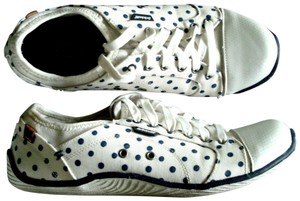 Dr. Scholl's Polka Dot Lace-up Slip-on Canvas Cream Navy Athletic