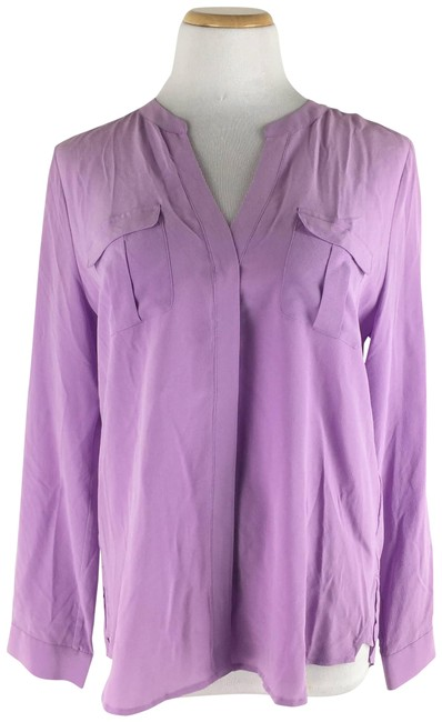 Item - Purple Iloani Pure Silk Blouse Size 12 (L)
