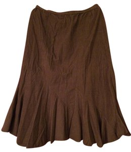 J. Jill Corduroy Trumpet Pleated Skirt Olive Green
