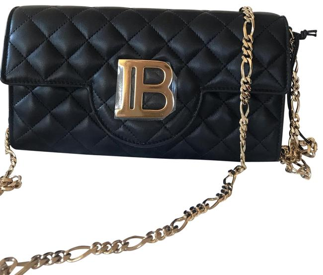Item - Wallet on Chain Quilted Black Lambskin Leather Cross Body Bag