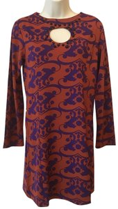Tracy Negoshian short dress Red Damask Minidress Sheathdress on Tradesy